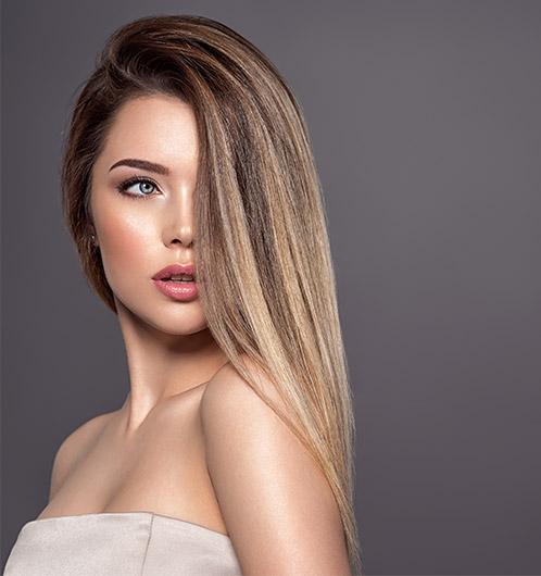 Dunkelblonde strähnen